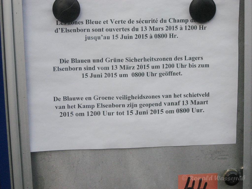 Warnschild Camp Elsenborn an der Jansbach-Brücke