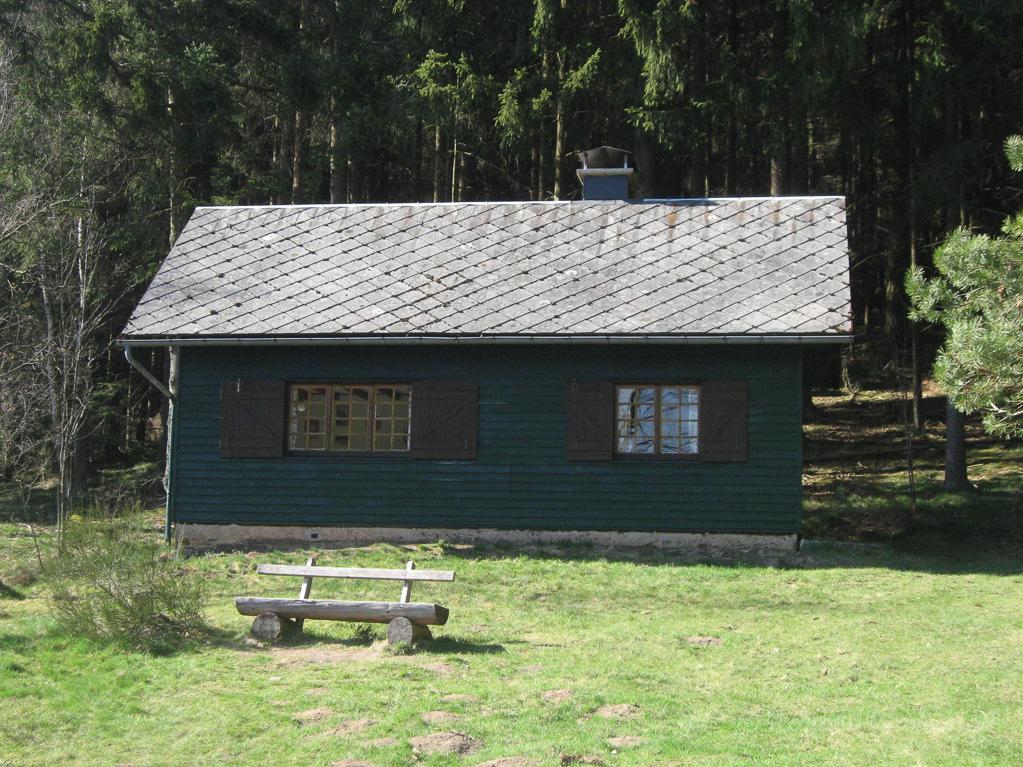 Hütte der Freizeitanlage Nähe Olefteich