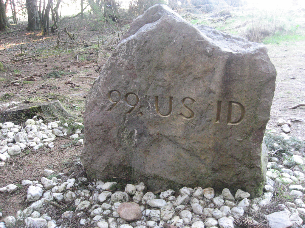 Gedenkstein Ardennenschlacht - amerikanische Seite