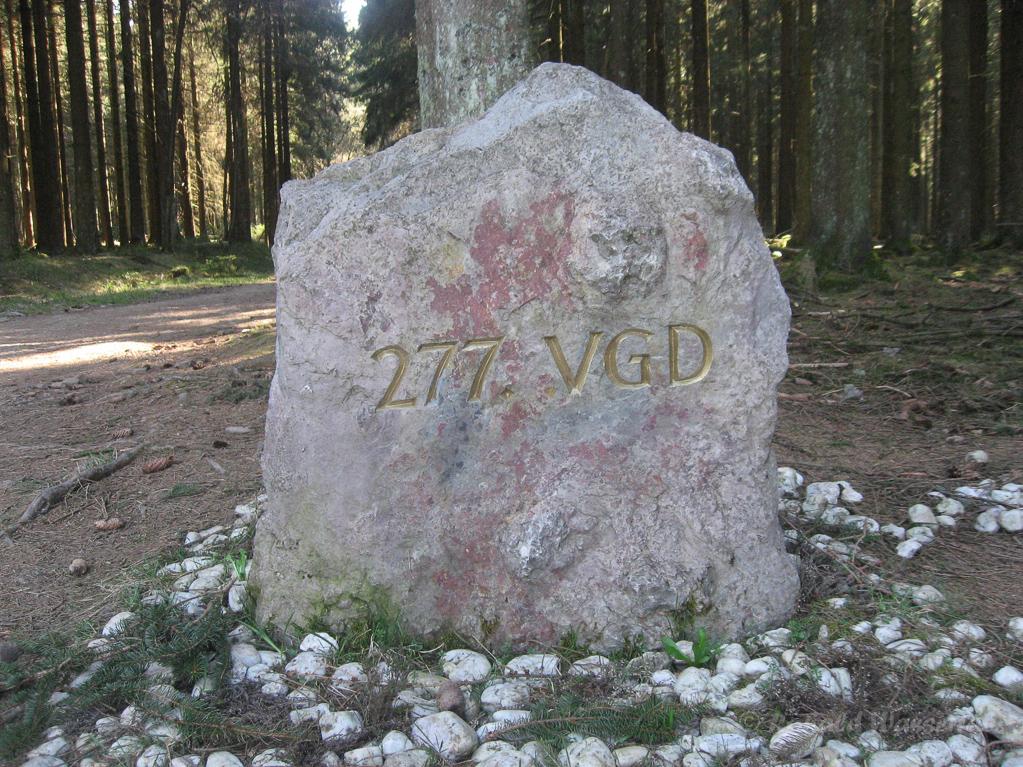 Gedenkstein Ardennenschlacht - deutsche Seite