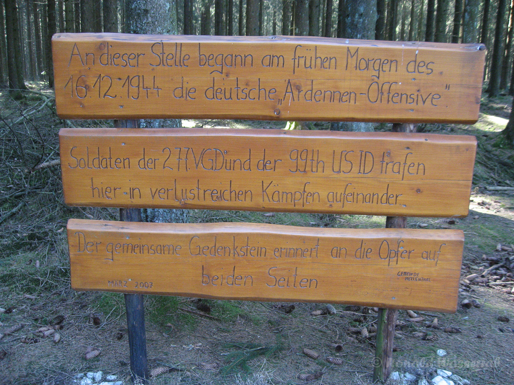 Hier begann 1944 die Ardennenschlacht