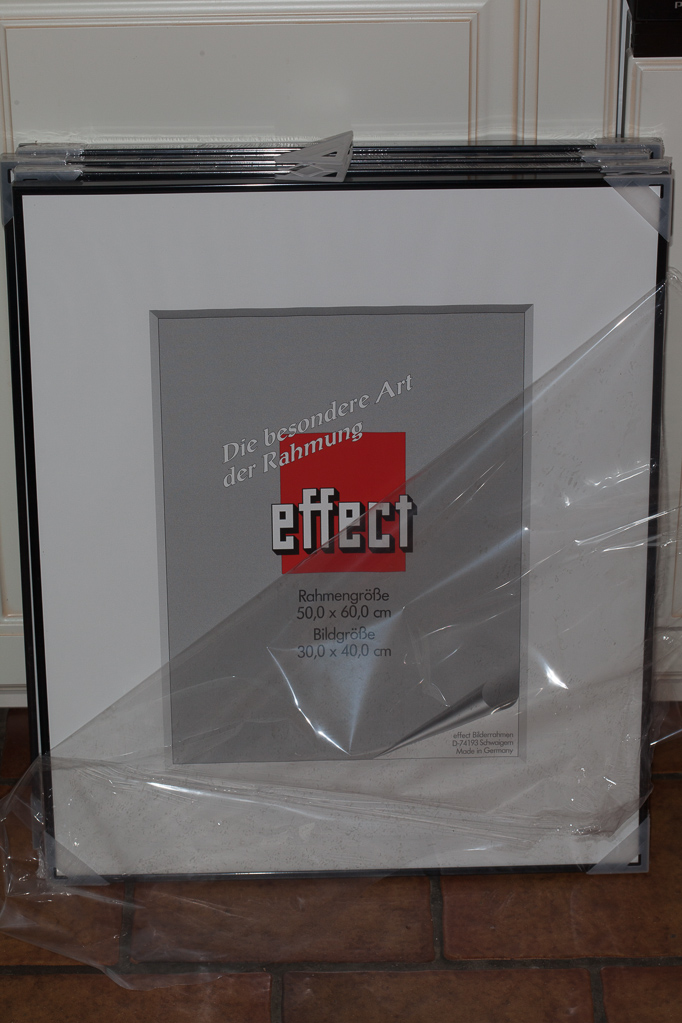 "Rahmen ""Miro"" bzw. ""effect"" mit Antireflexglas"