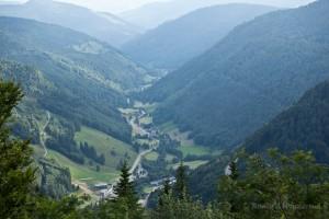 Wandern überm Himmelreich - Talblick vom Feldberg aus