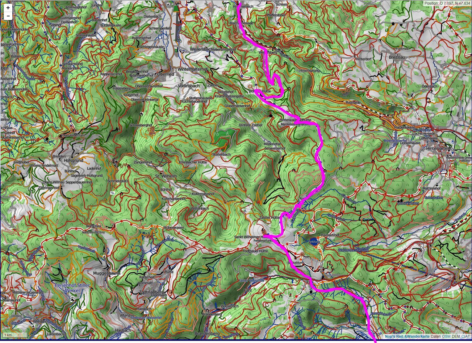 Wandern überm Himmelreich - Karte 1: Übersicht