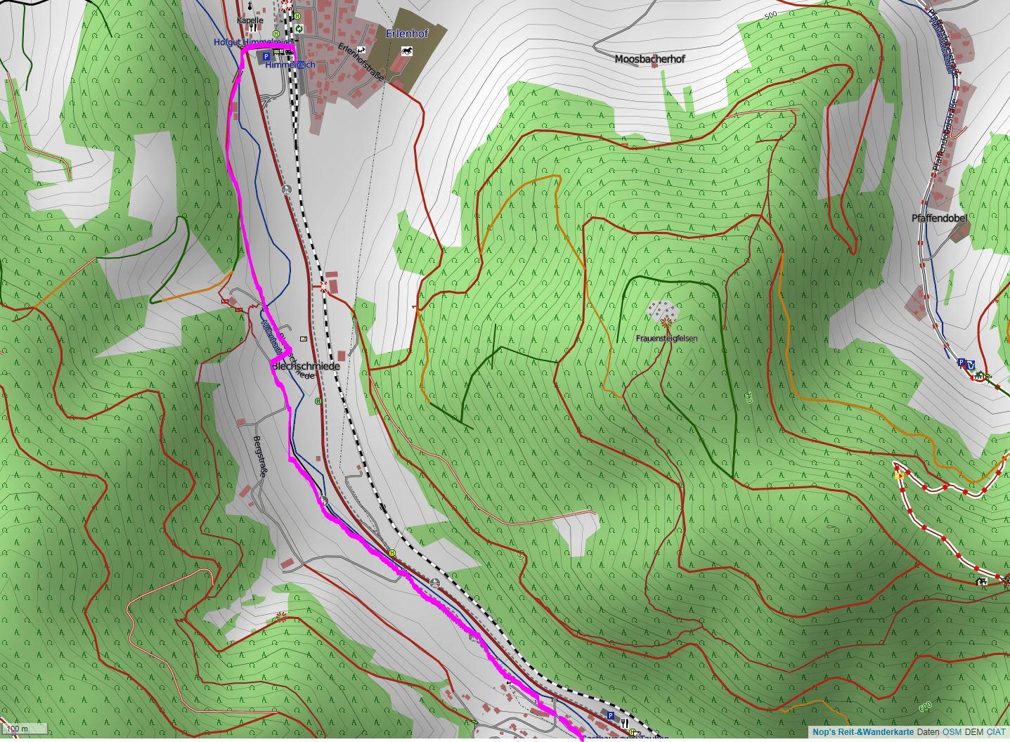 Wandern überm Himmelreich - Karte 2: Start